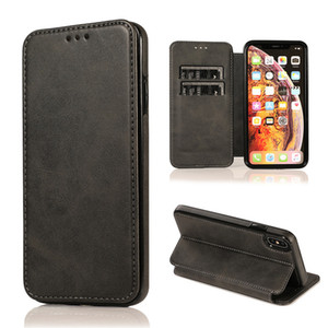 For iPhone Xs Max XR X 8 7 Pus Wallet Case Luxury PU Leather Cell Phone Holder Soft TPU Cover Credit Card Slot