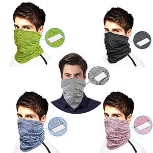 DHL доставка Велоспорт маска для лица с PM2.5 Фильтр бандана крышка лица спортивные повязки унисекс шеи гетры открытый езда мотоцикл маски B65F