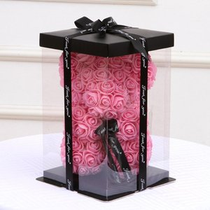 2020NewTransparent Vider boîte-cadeau pour Artificial Teddy Bear Rose Cadeaux Boîte à fleurs Femmes Ours en peluche lapin cadeau