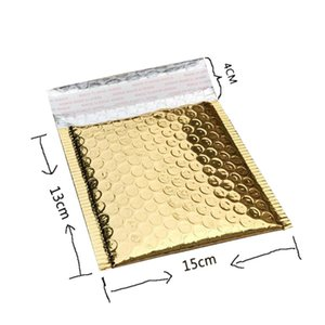 40Pcs Bubble Postage Shipping Bags Envelopes Package Birthdays Bright Surface Gifts Bag 15X13Cm+4Cm
