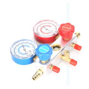 Automobile Climatisation Tables Réfrigérant Gauge AC outil de diagnostic Manifold Set de couleur flexible
