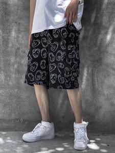 2020 new summer personalized casual shorts men's loose 5-point beach pants student trendy men's pants and breeches 613