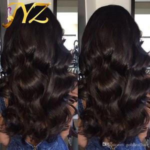 도매 130 % 밀도 인간의 머리가 발 웨이브 레이스 앞머리 가발 베이비 바디 브라질의 웨이브 인간의 머리 가발