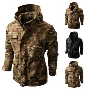 2020 chaqueta de los hombres de Shell suave estampado camuflaje táctico Hombres chaqueta con capucha caliente impermeable casual de manga larga S-2XL