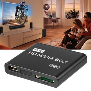 Mini Media Player Box TV Video Multimedia Player Full HD 1080P USB Remove Support MKV RM-SD USB SDHC MMC HDD-HDMI AU EU US Plug