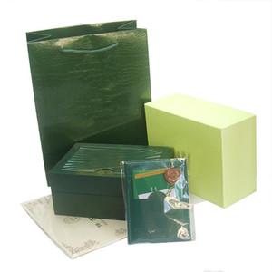 cajas de regalo de relojes de alta calidad caja del reloj de pulsera de lujo para hombre de la caja original de papel de folleto tarjeta del hombre Relojes