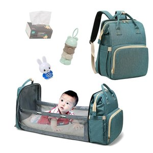 Baby Diaper Bags Travel Portable Large Capacity Shoulder Mommy bags Newborn Nappy Folding Crib Bag baby backpack bed YYA104