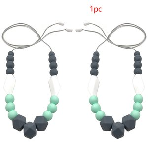 Women Silicone For Mom Jewelry Accessories All-Match Necklace Pendant Handmade Beads Neck Decoration Teething Baby