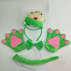 Child Women Men Animal 3D Green Snake Cosplay Costume Set Party Dress Decor Halloween , Headband Bow Tie Tail Paws Gloves