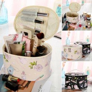 New Women Waterproof Makeup Bag Cosmetic Bags Travel Toiletry Wash Case Handbag Fashion Sweet Print Girls Make Up Travel Handbag