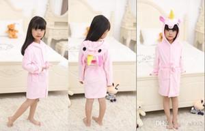 يونيكورن الوردي بيبى هوم الملابس الكرتون TIANMA رداء حمام الطفل مقنع كاب نجوم الحيوان البيجامة ملون 26cy الأزياء شحن مجاني A1