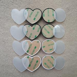 20PCS Heart-shaped Handy-Halter mit Groove Blank Acryl Sublimation Insert für Custom Customized Grip Telefon-Standplatz-Einfassungs-Halter