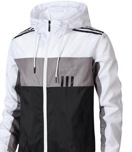 Felpe Felpe nuovo progettista Mens giacche di marca Windbreaker Patchwork Sport Marca maniche lunghe cappotti Giacca di goccia degli uomini di trasporto