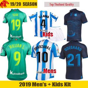 19 20 Real Sociedad Camisetas de fútbol ILLARRA hombre Uniforme Kit niños 2019 2020 ODEGAARD OYARZABAL Camiseta de fútbol WILLIAN PORTU MERINO soccer jersey