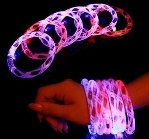 LED браслет загорается мигающий светится мигает браслет Кристалл браслет партии дискотека Рождественский подарок SN1942
