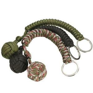 New Weaving Umbrella corda ao ar livre Survive bola chaveiro cadeia presente