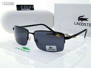 Designer Summer Mens Métal Lunettes de soleil de luxe Lunettes de soleil Polarized lunettes style 8031 UV400 4 couleurs en option de haute qualité avec la boîte