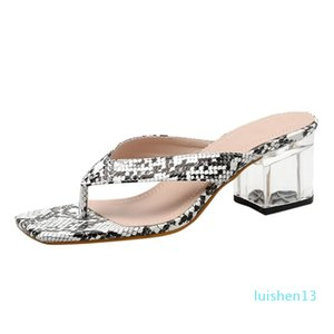 Women's Fashion Flip-Flops Transparent Slippers Women's Open Toe Shoes slippers summer slope with beach slippers l13
