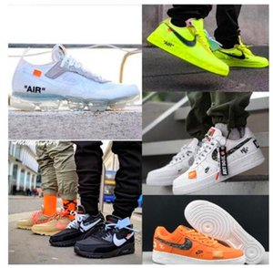Off Vapors Mens Maxes Running Shoes Airs AF1 Casual Skateboard Forces Triple Black White 1 One Breathable 90 Womens Trainers Sports sneakers