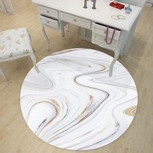 Onda de agua Li Wen Yu mármol Más Tamaño Ronda de escritorio Etiqueta Una sala dormitorio subsidios de tierras impermeable Yx012