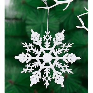 3pc Glitter Schneeflocke Weihnachtsbaum hängende Dekoration 2019 Weihnachten Home Ornaments Artificial White Snow Flake
