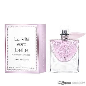 Perfume para senhoras La Vie Est Belle Flores da Felicidade LECLAT LEAU DE PARFUM Perfume Rose Spray de volume grande 75ML2.5FLOZ