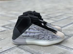 2019 Quantum presse authentique de basket-ball Chaussures Hommes Femmes Mafia EG1535 Kanye West Vague Runner 3M Chaussures de sport Sport avec la boîte d'origine 5-12