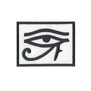 Exquisite computer embroid eye of horus biker ref2 backpack embroidered Patch iron sew on badge