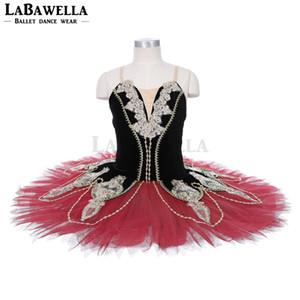 Black Red Don Quixote Professional Ballet Tutu Girls classical Ballet Tutu Stage Costume Adult Performance Pancake Tutus JY002C