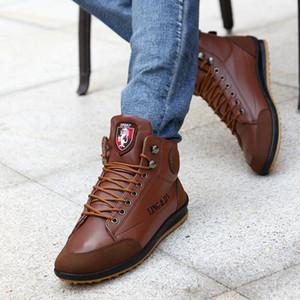 أحذية كبيرة الحجم الرجل أكسفورد للرجال عارضة الازياء البريطانية نمط الخريف الشتاء في الهواء الطلق جلدية ربط الحذاء حتى الأحذية قطرة