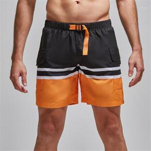 Şort Yaz Kargo Spor Plaj Erkek Şort Casual Renkli Erkek Pantolon Patchwork Renk Mens