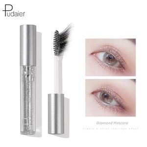 Pudaier 4D Fibre Mascara Waterproof Slender Curl Glitter Femme cosmétiques Maquillage Blanche Neige Mascara étoiles scintillent