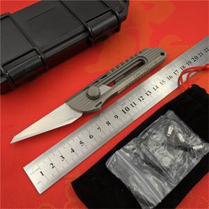 지구 9 원본 종이 주머니 칼 티타늄 손잡이 Olfa 스테인레스 스틸 블레이드 전정 야외 캠핑 사냥 칼 EDC 도구