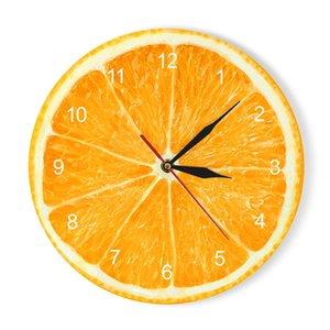 الفاكهة الأصفر الليمون فاكهة ساعة الحائط الجير الحديثة المطبخ على مدار الساعة ووتش ديكور المنزل غرفة المعيشة على مدار الساعة الاستوائية جدار الفن الساعات Y200109