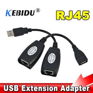Cheap Computer Cables & Connectors kebidu USB 2.0 Extension Extender Adapter male & Female Up To 150ft Using CAT5 CAT5E 6 RJ45 Lan Network