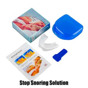 Parar ronco Solução Anti roncar Bocal de silicone suave ABS Boa Noite Dormir Apnéia Guarda bruxismo Bandeja ronco Cessação DHL