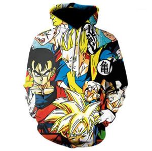 3D Stampa Homme Abbigliamento modo di stile casual Abbigliamento Dragon Ball Mens autunno Desinger felpe girocollo