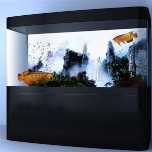 Mr.Tank PVC Aquarium Hintergrund Poster Wuxia Film Mountain View Fish Tank Hintergrund-Tapete Aufkleber Dekorationen