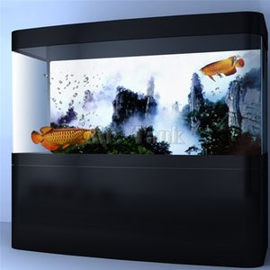 Mr.Tank PVC Aquarium fond Poster Wuxia Film Mountain View Fish Tank Wallpaper Backdrop Sticker Décorations