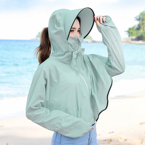 2020 New Sun Protection Clothing Women Summer New Anti-ultraviolet Section Outdoor Cycling Sun Protection Clothing Jacket