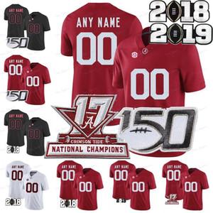 Custom Alabama Crimson Tide 2020 Футбол Любое имя Номер красный белый черный 11 Генри Руггс III TATOVAILOA Jeudy Waddle Mac Jones 150th Джерси