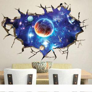 B Creative 3D nouveau fond mur papier peint stickers muraux ciel imaginaire de salon TV peinture décorative autocollants PVC