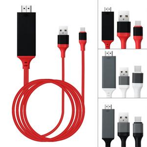 Televisión de alta definición por cable 1080P Tipo C a la pantalla HDMI adaptador convertidor de reflejo de televisión de alta definición por cable adaptador Plug and Play Por tipo C 50PCS / LOT