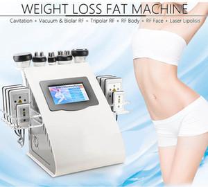 Yeni Geliş Modeli 40k Ultrasonik liposuction kavitasyon 8 Pedler Lazer Vakum RF Cilt Bakımı Salon Spa zayıflama makinesi Güzellik Equipment DHL