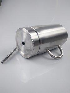 Кружка из нержавеющей стали Mason Jar двойная стенка Mason Cup с ручкой 500 мл чашка с крышкой из нержавеющей стали солома кофе пиво сок кружка