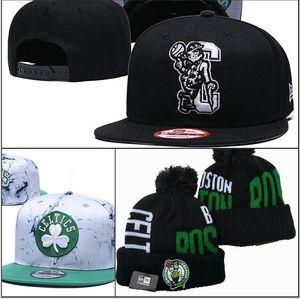 de Mulheres Nova Chegada basquete de homens de cor verde Boston malha Gorros de alta qualidade celtics Snapback um ajustável cap tamanho do Fan