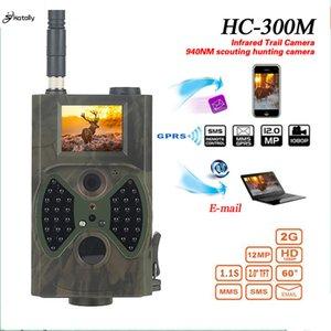 atacado HC300M Hunting Camera GSM 12MP 1080P Foto Traps Night Vision Wildlife infravermelho caça Trail Câmeras caça Chasse olheiro