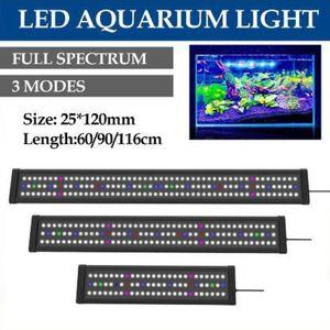 Водонепроницаемый светодиодный аквариум Свет Fish Tank Light Bar Синий 60/90 / 116CM Погружной Подводный Клип лампы Aquatic Decor