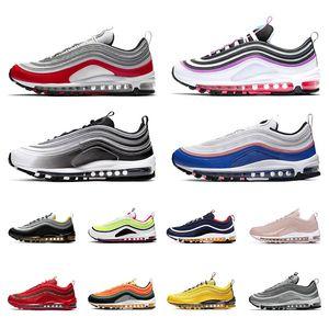 Nike air max 97 Moda sapatos executando 2020 PRM Branco Triplo homens negros mulheres esportes das sapatilhas mais colorway Red Leopard Corduroy pacote