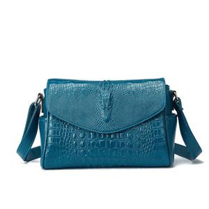 100% Genuine leather Women handbags 2020 New Leather crocodile hand bag female women's bag female European cowboy hand grab Shoulder Bag Fas
